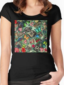 tropical vintage  Women's Fitted Scoop T-Shirt
