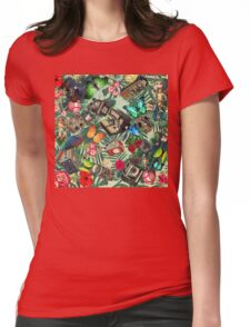 tropical vintage  Womens Fitted T-Shirt