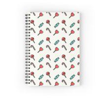 Candy pattern Spiral Notebook