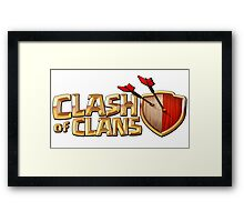 coc clash of clans 2016 Framed Print