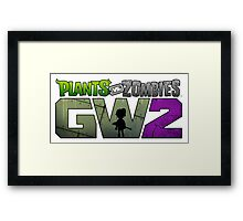 plants zombies GW2 Framed Print