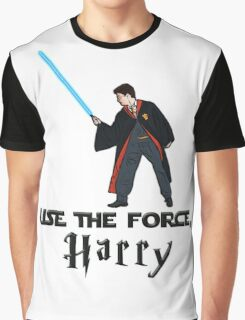Jedi Harry Potter with Light Saber Graphic T-Shirt