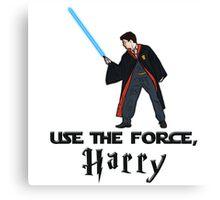 Jedi Harry Potter with Light Saber Canvas Print