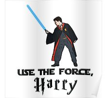 Jedi Harry Potter with Light Saber Poster