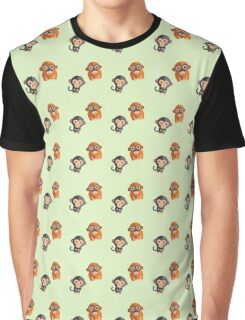 Monkey Pattern Graphic T-Shirt