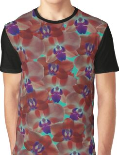 Orchids Red Graphic T-Shirt
