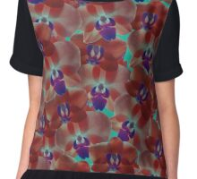 Orchids Red Chiffon Top
