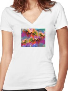 Garden Jewel Women's Fitted V-Neck T-Shirt
