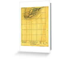 USGS TOPO Map New Jersey NJ Cape May 255149 1925 62500 Greeting Card