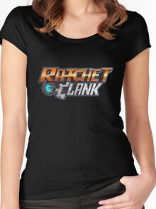 ratchet clank logo games Women's Fitted Scoop T-Shirt