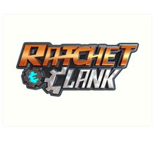 ratchet clank logo games Art Print