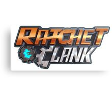 ratchet clank logo games Metal Print