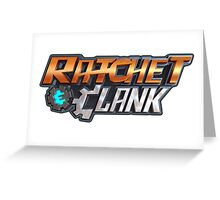 ratchet clank logo games Greeting Card