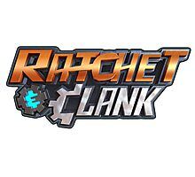 ratchet clank logo games Photographic Print