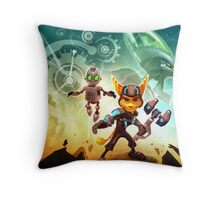 ratchet clank in the time Throw Pillow
