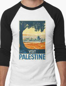 Vintage Travel Poster - Palestine Men's Baseball ¾ T-Shirt