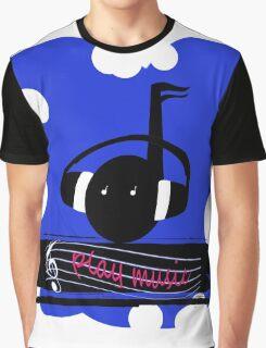 Blue Play Music Graphic T-Shirt