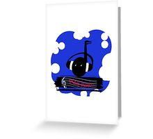 Blue Play Music Greeting Card
