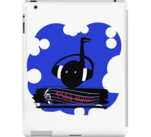 Blue Play Music iPad Case/Skin