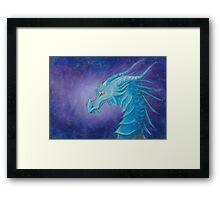 The Cool Blue Dragon Framed Print