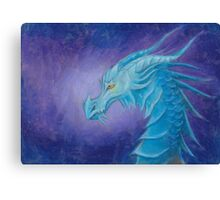 The Cool Blue Dragon Canvas Print