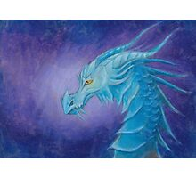 The Cool Blue Dragon Photographic Print