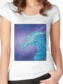 The Cool Blue Dragon Women's Fitted Scoop T-Shirt