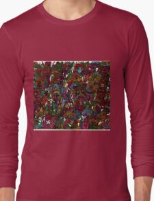 Psychedelic Cartoon Long Sleeve T-Shirt