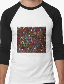 Psychedelic Cartoon Men's Baseball ¾ T-Shirt