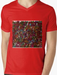 Psychedelic Cartoon Mens V-Neck T-Shirt