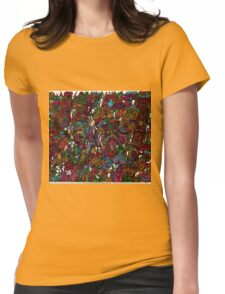 Psychedelic Cartoon Womens Fitted T-Shirt