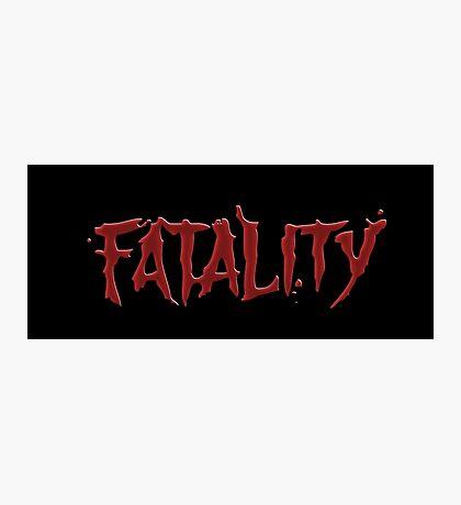 Mortal kombat Fatality Photographic Print