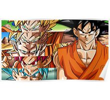 Goku and Transformation Poster