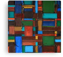 Leather Weave Canvas Print