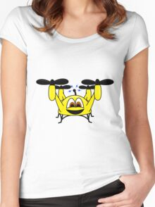 Happy Drone Women's Fitted Scoop T-Shirt