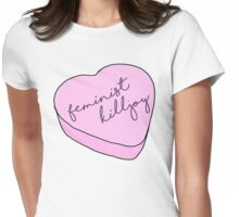 """""""Feminist Killjoy"""" Candy Heart Womens Fitted T-Shirt"""
