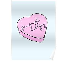 """Feminist Killjoy"" Candy Heart Poster"