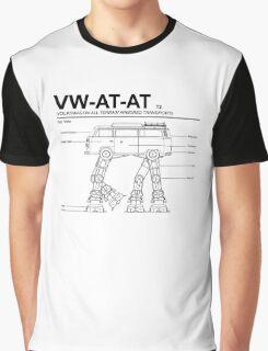 VW Westfalia AT-AT T2 Blueprint Graphic T-Shirt