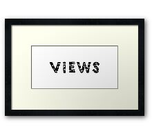 OVO - Views (Authentic Font) Framed Print