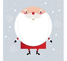 Santa with beard, cute greeting for Xmas holiday Photographic Print