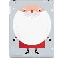 Santa with beard, cute greeting for Xmas holiday iPad Case/Skin