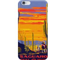 Vintage Travel Poster - Saguaro iPhone Case/Skin