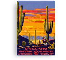 Vintage Travel Poster - Saguaro Canvas Print