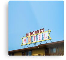 the Aircrest Motel Metal Print