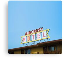 the Aircrest Motel Canvas Print