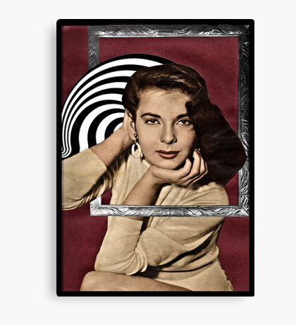 Coming Out of Her Frame Canvas Print