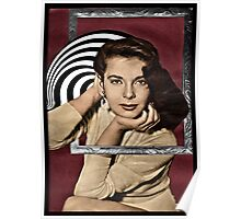 Coming Out of Her Frame Poster