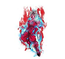 Goku God Blue Kaioken x10 Photographic Print