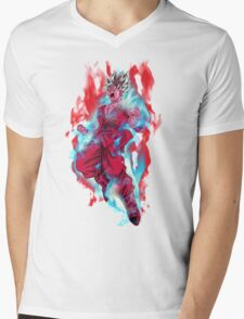 Goku God Blue Kaioken x10 Mens V-Neck T-Shirt