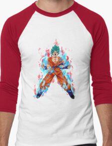Goku God Blue Kaioken Men's Baseball ¾ T-Shirt